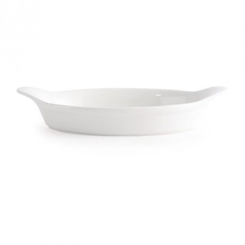 Naczynie do zapiekania owalne z uszami 0,38 l, białe | CHURCHILL, Cookware