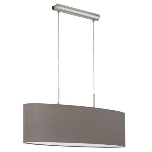 Lampa wisząca abażurowa elipsa Eglo Pasteri 2x60W E27 brązowa 96382, 96382