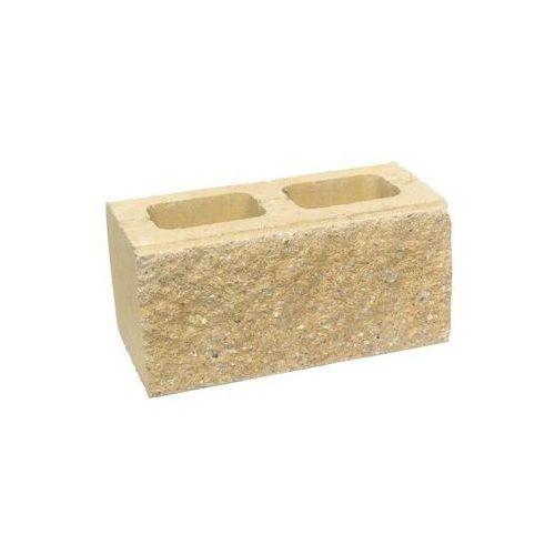 Ziel-bruk Pustak ścienno-cokołowy 39 x 20 x 19 cm betonowy dwustronnie łupany skała lubuska