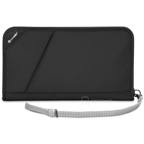 Pacsafe RFIDsafe V200 portfel damski / męski / etui na dokumenty / Black - Black