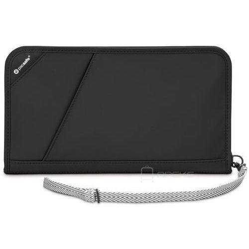 Pacsafe RFIDsafe V200 portfel damski / męski / etui na dokumenty / czarne - Black