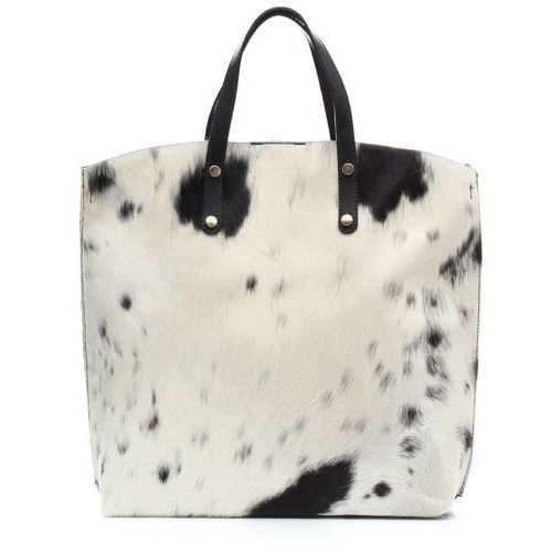 Torebka skórzana shopperbag z kosmetyczką krówka (kolory) marki Genuine leather