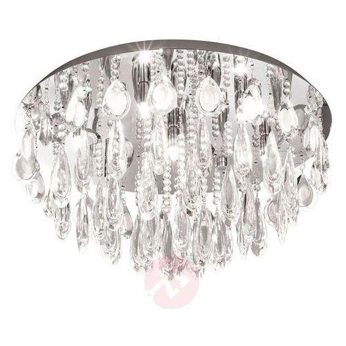 Plafon calaonda 93413 lampa kryształowa sufitowa 7x33w g9 fi580 chrom/kryształ marki Eglo