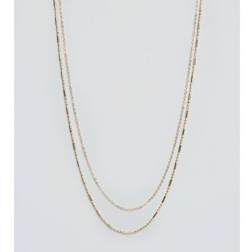 DesignB double chain necklace in gold exclusive to asos - Gold
