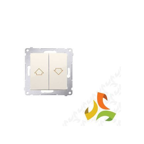 Simon kontakt Wyłącznik żaluzjowy, kremowy z blokadą elektryczną równoczesnego włączenia dzp1.01/41 simon 54 premium