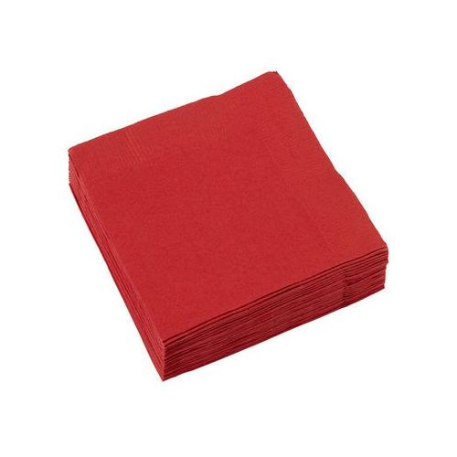 Serwetki czerwone- 25 cm - 20 szt. (0048419047414)