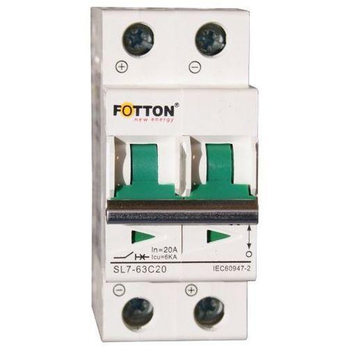 Bezpiecznik - wyłącznik nadprądowy FOTTON SL7 2P 20A 550V DC