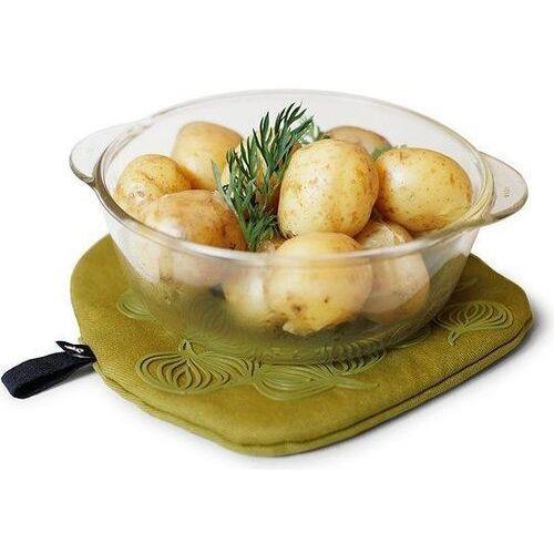 Podstawka pod gorące naczynie i rękawica kuchenna oliwkowa marki Bosign