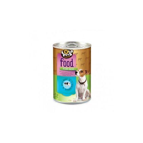 LOLO PETS Food For Dog Puszka,Wołowina 410g- RÓB ZAKUPY I ZBIERAJ PUNKTY PAYBACK - DARMOWA WYSYŁKA OD 99 ZŁ (5904479480040)