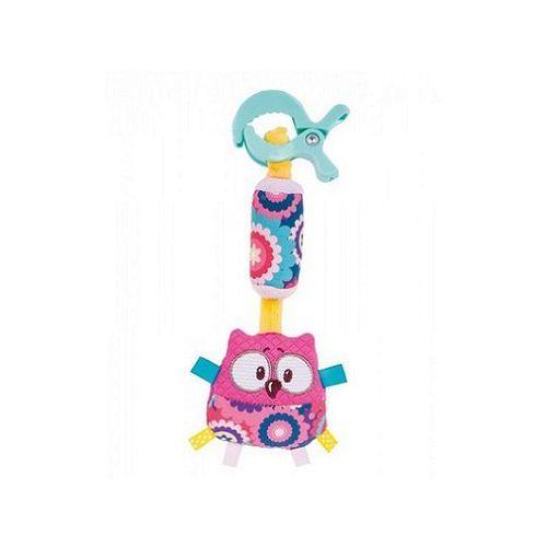 CANPOL Babies Pluszowa zabawka z zawieszką Sowa, różowa