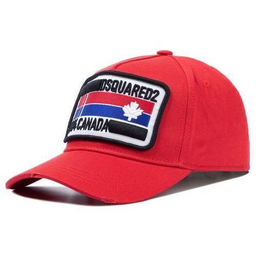Dsquared2 Czapka z daszkiem - patch cargo baseball caps bcm0247 05c00001 4065 red
