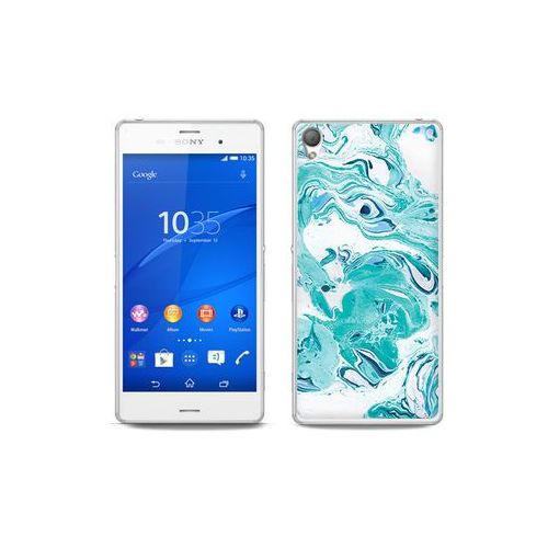 etuo Fantastic Case - Sony Xperia Z3 - etui na telefon Fantastic Case - niebieski marmur, ETSN125FNTCFC029000