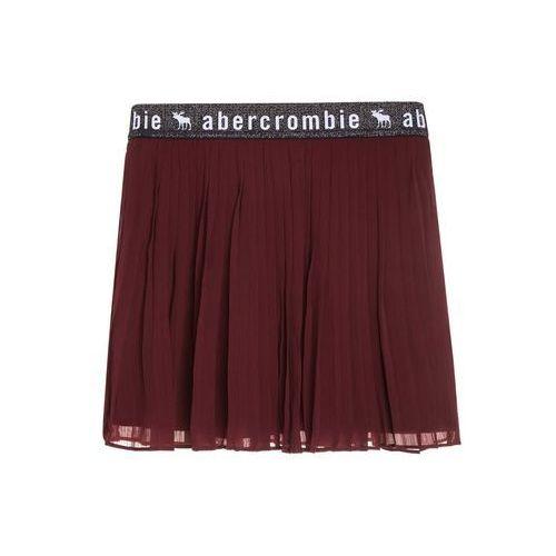 Abercrombie & Fitch ELASTIC PLEATED Spódnica plisowana windsor wine burgundy, kolor czerwony