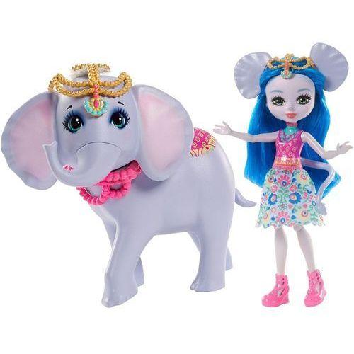 Mattel Enchantimals lalka ekaterina + duże zwierzę słoń (0887961553505)