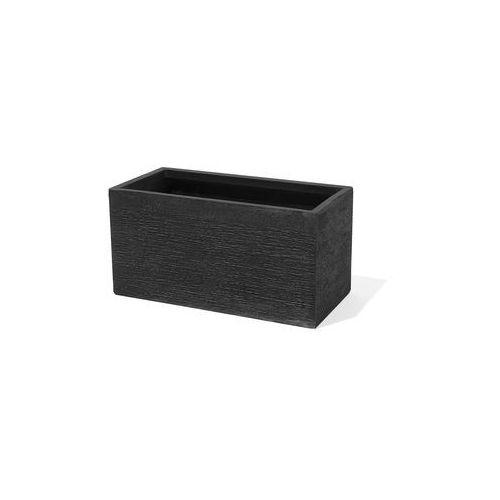 Doniczka czarna prostokątna 60 x 29 x 30 cm MYRA (4260602372387)