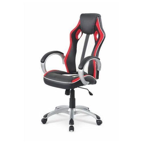 Control fotel gamingowy dla graczy czarno-biało-czerwony marki Style furniture