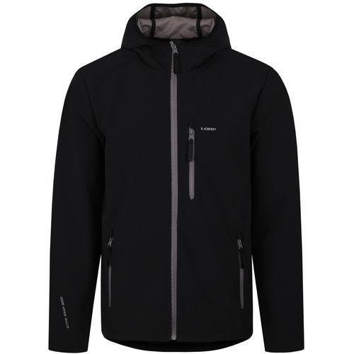 Loap męska kurtka softshell lenc, czarny, xl (8592946577170)