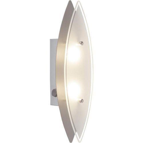 Brilliant Lampa ścienna led ovalna g94327/13, led wbudowany na stałe, 200 lm, 3000 k, (dxsxw) 27.5 x 6.5 x 7.8 cm, chrom (4004353205781)