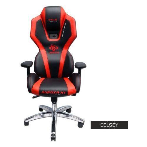 fotel gamingowy e-blue auroza czarno-czerwony podświetlany marki Selsey