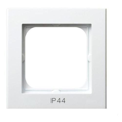 OSPEL SONATA RH-1R/00 Ramka pojedyncza do łączników IP44 BIAŁY, RH-1R/00