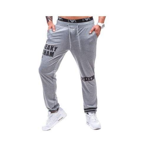 Spodnie dresowe męskie szare denley 1068 marki Street star
