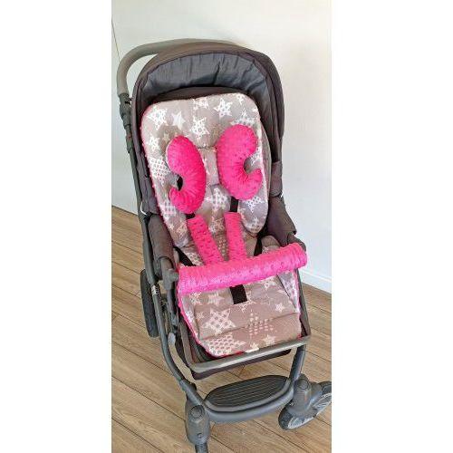 Wkładka do wózka, ochraniacze na pasy i pałąk + motylek duże gwiazdy marki Bubaland