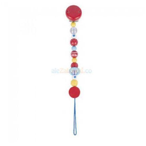 Łańcuszek do smoczka – wzór różowy, Heimess 737150