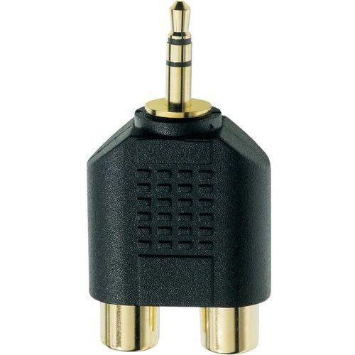 Inakustik Audio adapter y  0081381 81381, [1x złącze męskie jack 3,5 mm - 2x złącze żeńskie cinch], czarny, wykonanie złącza: proste, miedź (4001985813810)