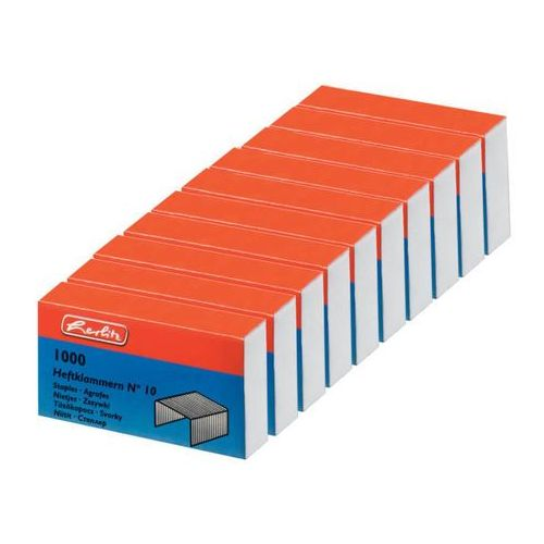 Zszywki NR10 10 opakowań po 1000 sztuk HERLITZ - 10 (4008110016306)