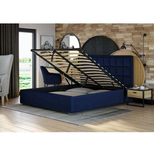 Łóżko tapicerowane 160x200 z pojemnikiem - sfg074 - welur, popiel marki Emwomeble