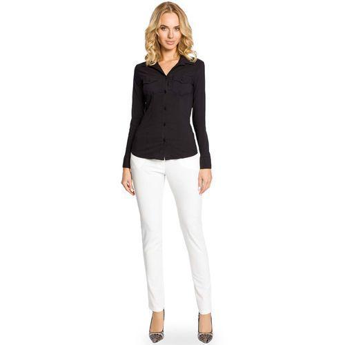Czarna klasyczna taliowana koszula z długim rękawem, Moe, 36-44