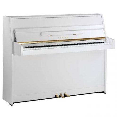 b1 pwh pianino (109 cm), kolor biały, połysk (polished white) marki Yamaha