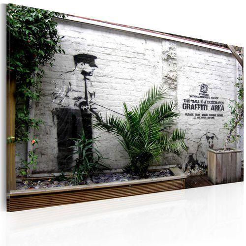 Obraz - strefa graffiti (banksy) marki Artgeist