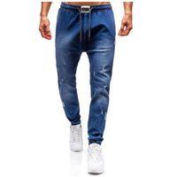 Spodnie jeansowe joggery męskie granatowe Denley 2055, jeans