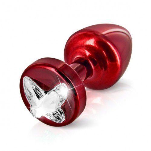 Plug analny zdobiony - Diogol Anni R Butt Plug Butterfly Red 25 mm Czerwony, kup u jednego z partnerów