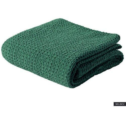 Selsey narzuta na łóżko alpinia bawełniana zielona