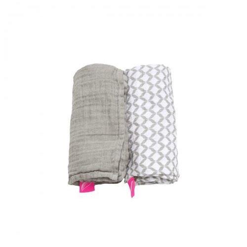 Motherhood Otulacze muślinowe bawełniane 85x110cm 2 szt. pre-washed beż classic,