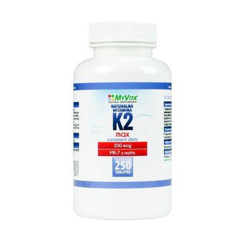 Tabletki Witamina K2 MK-7 MAX z natto 200mcg (MyVita) 250 tabl.. Najniższe ceny, najlepsze promocje w sklepach, opinie.