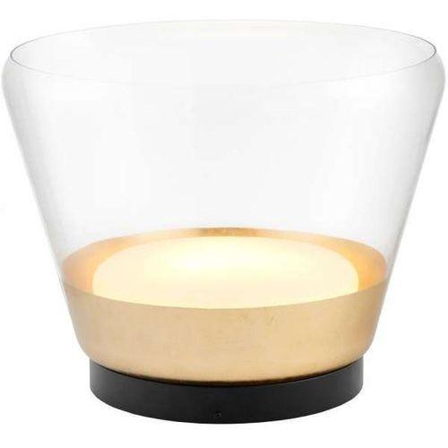 Skandynawska LAMPA stołowa SPIRIT 40825105 Kaspa stojąca LAMPKA nocna do sypialni loftowa złota przezroczysta czarna, 40825105