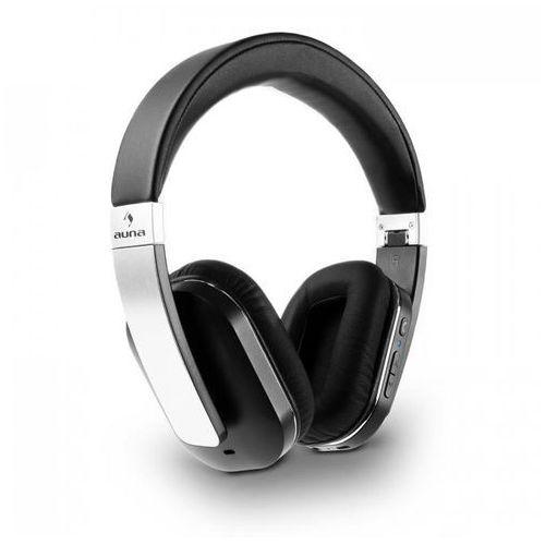 auna Elegance słuchawki Bluetooth NFC baterie imitacja skóry aluminium apt-X
