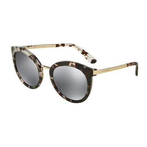 Okulary Słoneczne Dolce & Gabbana DG4268F Asian Fit 28886G, kolor żółty
