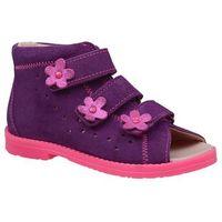 Dawid Sandałki profilaktyczne ortopedyczne buty 1042 fioletowe fcf - fioletowy ||różowy