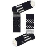 Happy Socks - Skarpety Black & White (4-pack)