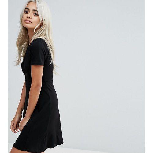 ASOS DESIGN Petite ultimate mini tea dress - Black