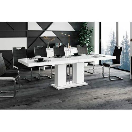 Stół rozkładany LINOSA 160-260 cm biały połysk, HS-0224