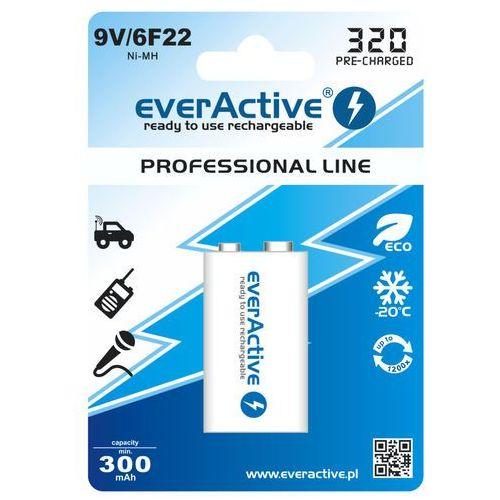 akumulatorek everActive 6F22/9V Ni-MH 320 mAh ready to use