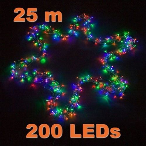 Voltronic® Świąteczne led oświetlenie - 20 m, 200 led, kolorowe