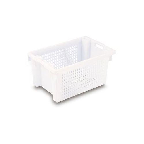 Werit kunststoffwerke Obrotowy pojemnik do ustawiania w stos z hdpe, poj. 50 l, ścianki i dno perforow