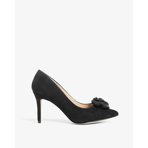 Phase eight  sasha suede sparkle rose court shoe