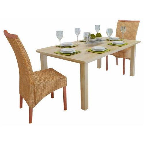 Krzesła do jadalni rattanowe, brązowe, 2 szt. marki Vidaxl
